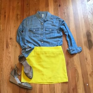 J.crew factory bright yellow mini